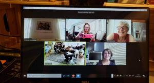 פגישת זום במחשב נייד